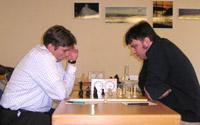 Klaus-Peter Köpcke (links) gegen T. Böhm
